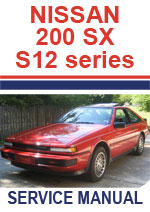 Nissan S12 Series 200SX Silvia and Gazelle 1984-1988 Workshop Repair Manual