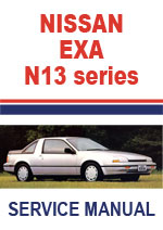 Nissan N13 Series EXA 1987-1990 Workshop Repair Manual